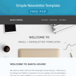 Simple Newsletter Template Free PSD