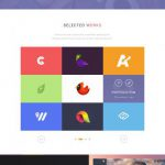 Simple One Page Website PSD freebie