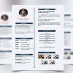 Simple Resume CV Free PSD Template