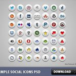 Simple Social Icons Free PSD