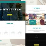 Single Page Personal Portfolio Template PSD