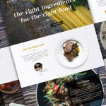 Single Page Restaurant Website Template PSD