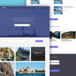 Tour and Travels Website Template Free PSD