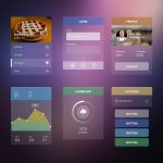 Transparent Sleek Web UI Elements Kit PSD