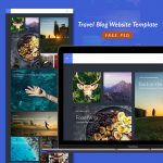 Travel Blog Website Template Free PSD