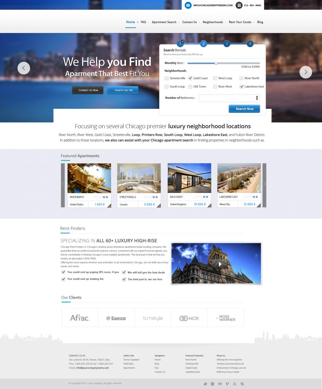 Travel Booking Website Design Template PSD