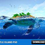 Turtle Island Free PSD File