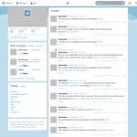 Twitter New Home GUI PSD template