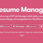 [Get] WP Job Manager – Resume Manager v1.15.2