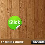 Web 2.0 Peeling Sticker Free PSD
