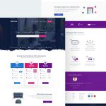 Web Hosting Website Template PSD