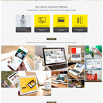 Web and Graphic Design Portfolio Website Template PSD