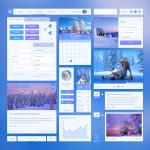 Winter Style UI Kit Free PSD