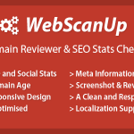 [GET] WebScanUP Domain Reviewer and SEO Stats Checker