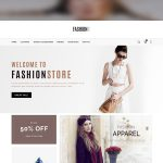 eCommerce Fashion Store Website Template PSD