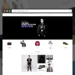 eCommerce Homepage Layout Design PSD