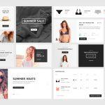 eCommerce UI Kit Elements Free PSD