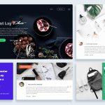eCommerce Website Elements UI Kit PSD