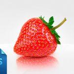 Realistic Strawberry Free PSD