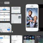 iOS 7 iPhone GUI PSD file
