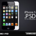 iPhone 5 Free PSD