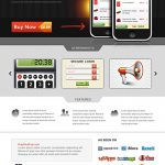 iPhone App Website Template PSD