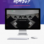 Homely – Real Estate Instapage Template Menu Cart