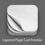 iOS Pagecurl Icon Freebie PSD