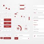 Pizza UI Kit PSD File
