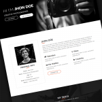 Genius | One Page Creative Portfolio HTML5 Template Menu Cart