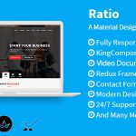Ratio – Material Design WordPress Theme Menu Cart