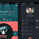 Dark Creative Social App Interface PSD