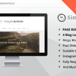 [Get] Simple Article v1.08 – WordPress Theme For Personal Blog
