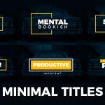 [Get] VideoHive Minimal Titles 19235796