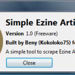 [GET] Simple Ezine Articles Scraper