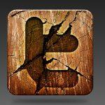 Wooden Social Media Icon PSD