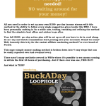 [GET] WSO 695870 Buck A Day Loophole